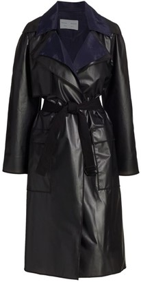 Proenza Schouler White Label Leather-Look Trench Coat