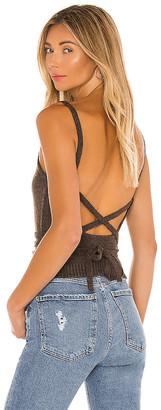 Line & Dot Megan Wrap Sweater Top