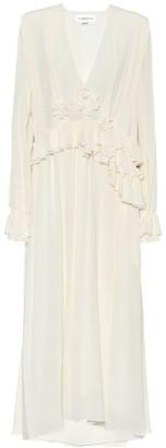 Victoria Beckham Pleated silk-crApe maxi dress
