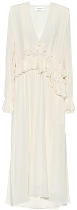 Victoria Beckham Pleated silk-crepe maxi dress