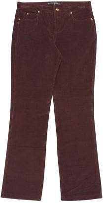 Ralph Lauren Burgundy Velvet Trousers