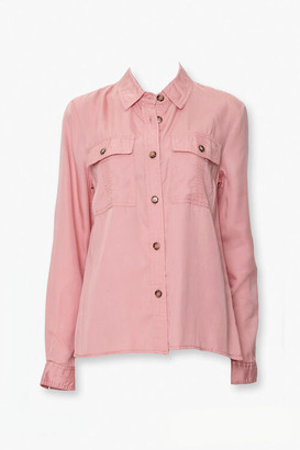 Forever 21 Button-Up Twill Shirt