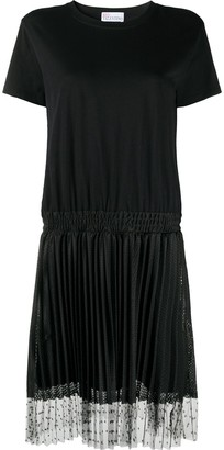 RED Valentino tulle-overlay T-shirt dress