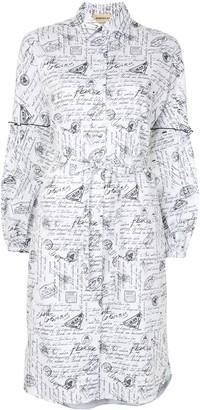 PortsPURE Writing Print Shirt Dress