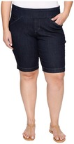 Jag Jeans Plus Size Ainsley Pull-On Bermuda Comfort Denim in Dark Shadow Women's Shorts
