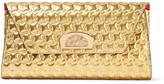 Christian Louboutin Vero Dodat Metallic Embossed Leather Clutch - Gold