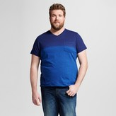 Mossimo Men's Big & Tall V-Neck Large Stripe T-Shirt with Pocket
