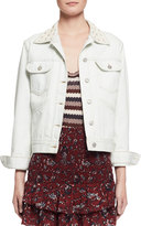 Isabel Marant Christa Cotton Denim Jacket, Chalk