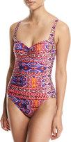 LaBlanca La Blanca Global Sweetheart-Neck One-Piece Swimsuit, Multi Pattern