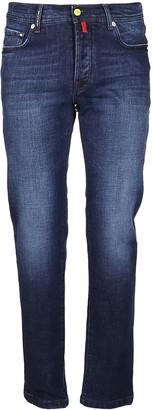 Kiton Blue Cotton Jeans