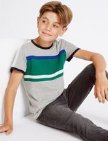 Marks and Spencer Cotton Rich Panelled Pique Top (3-14 Years)