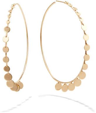 Lana 14k Gold Dangle Disc Hoop Earrings, 60mm
