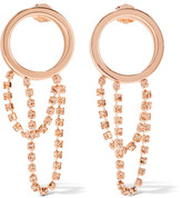 Maison Margiela Rose Gold-plated Crystal Hoop Earrings - one size