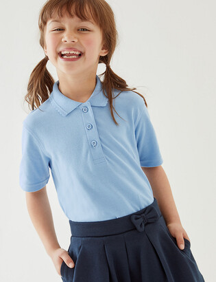 Marks and Spencer Girls' Stain Resist School Polo Shirts