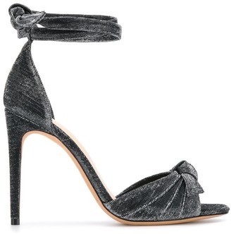 Alexandre Birman Bow Detail Glitter Sandals