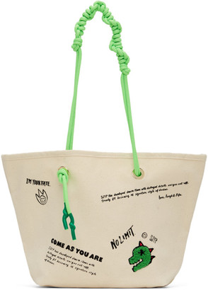 Sjyp Off-White Canvas Tote