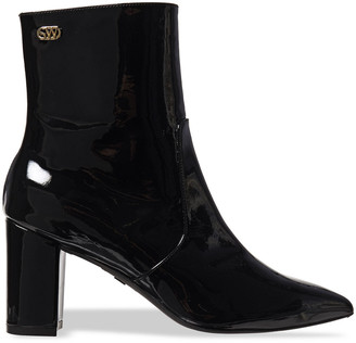 Stuart Weitzman Linaria 75 Patent-leather Ankle Boots