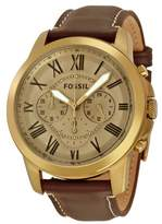 Fossil Grant FS5107 Gold Dial Watch