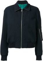 Paul Smith multi-pockets bomber jacket - women - Cotton/Polyamide/Polyester/Cupro - 40
