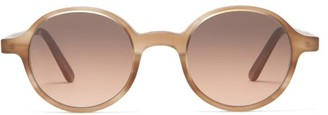 L.g.r Sunglasses - Reunion Havana 64 Round Acetate Sunglasses - Beige