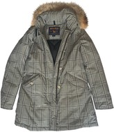Woolrich Grey Cotton Coat for Women