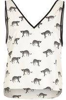 River Island Womens White cheetah print cami pajama top