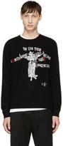 Valentino Black Jamie Reid Edition Cashmere Sweater