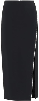 David Koma Embellished high-rise cady skirt