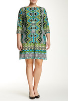 Maggy London Printed Puzzle Shift Dress (Plus Size)