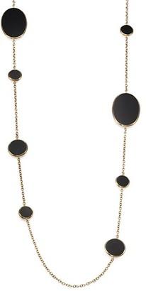 Ippolita 18K Yellow Gold & Black Onyx Disc Station Necklace