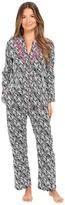 Oscar de la Renta Printed Cotton Sateen Pajama