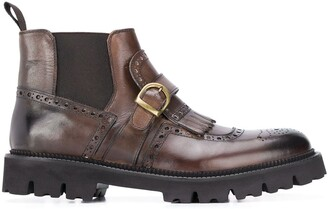 Eleventy Chelsea buckle-detail boots