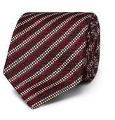 Dunhill - 8cm Striped Woven Mulberry Silk Tie