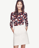 Ann Taylor Petite Vine Boatneck Sweater