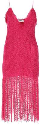 MSGM Fringed Midi Dress