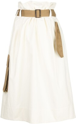 Tibi Slub paper bag skirt