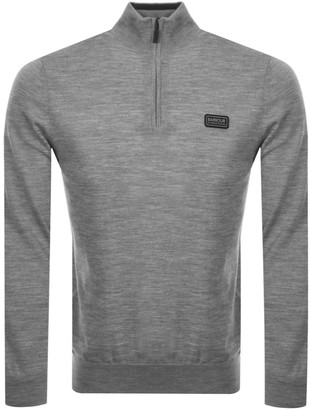 Barbour International Half Zip Knit Jumper Grey