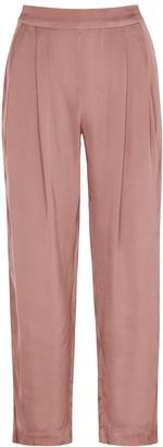 Velvet by Graham & Spencer Hilary rose satin trousers