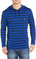 Lacoste Stripe Long Sleeve Hooded T-Shirt