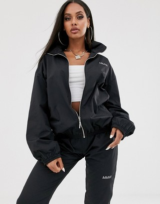 My Mum Made It relaxed tracksuit top with reflective logo coord