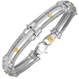 Forzieri DiFulco Line Gold Screw Stainless Steel Link Bracelet