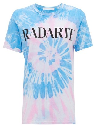 Rodarte Radarte-print Tie-dye Jersey T-shirt - Blue Multi