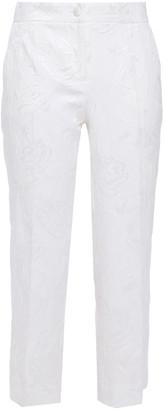 Dolce & Gabbana Cropped Cotton-blend Jacquard Slim-leg Pants