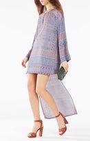 BCBGMAXAZRIA Worina Scarf Print High-Low Dress