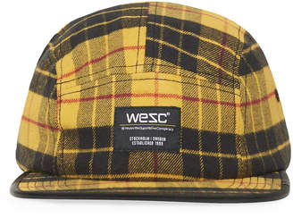 Wesc Men's 5-Panel Tartan Plaid Baseball Cap
