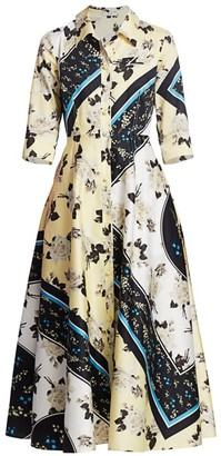 Erdem Kasia Rosemont Willow Cotton Poplin Shirtdress