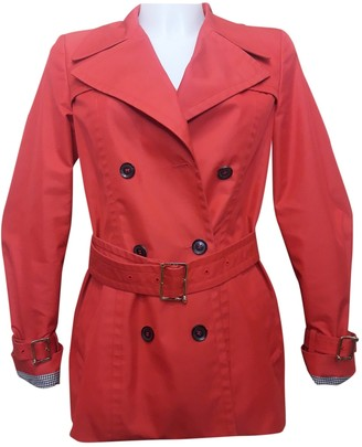 Gucci Orange Cotton Trench coats