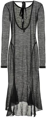 Ann Demeulemeester Wool-blend maxi dress