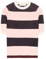 Marni Striped Cotton-blend Top