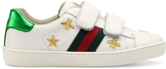 Gucci Children's Ace bees and stars sneaker